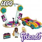 2020 Lego Friends Колата и сцената на Андреа 41390