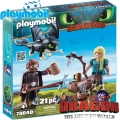 2019 PLAYMOBIL DRAGONS ХЪЛЦУК,АСТРИД И ДРАКОН 70040