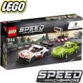 LEGO SPEED CHAMPIONS ПОРШЕ 911 RSR И ПОРШЕ 911 ТУРБО 3.0 75888